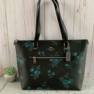 NWT COACH GALLERY TOTE W/ VICTORIAN FLORAL PRINT